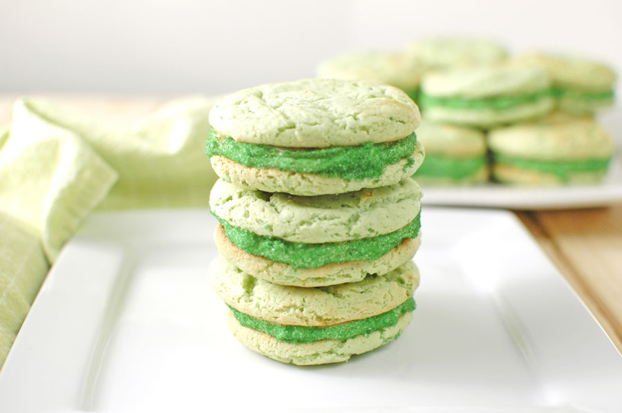 St. Patrick's Day Cookies Stacked on a Plate