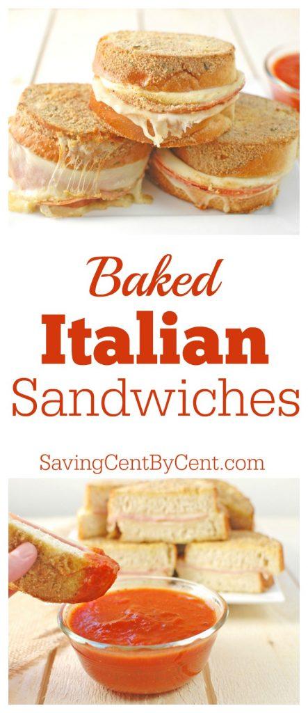 Baked Italian Sandwiches