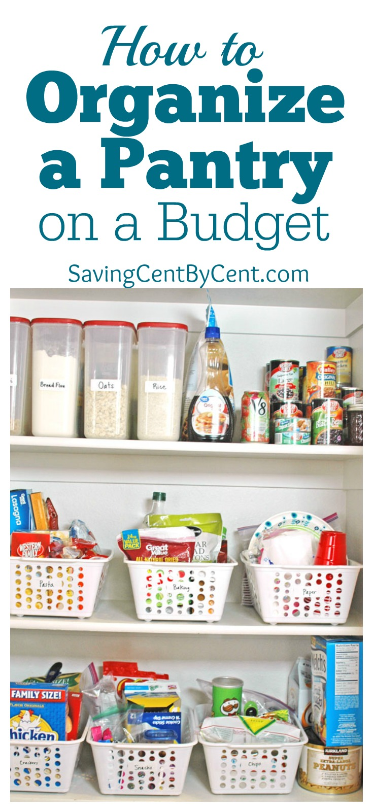 how to organize a pantry on a budget