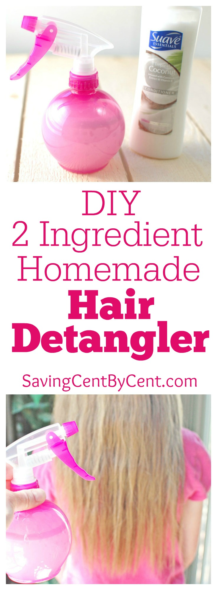 DIY 2 ingredient homemade hair detangler