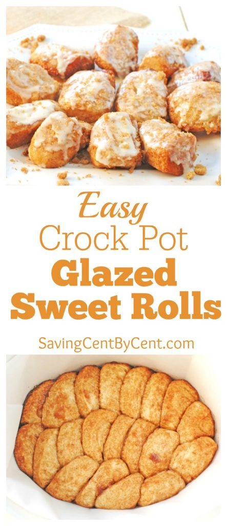 Easy Crock Pot Glazed Sweet Rolls