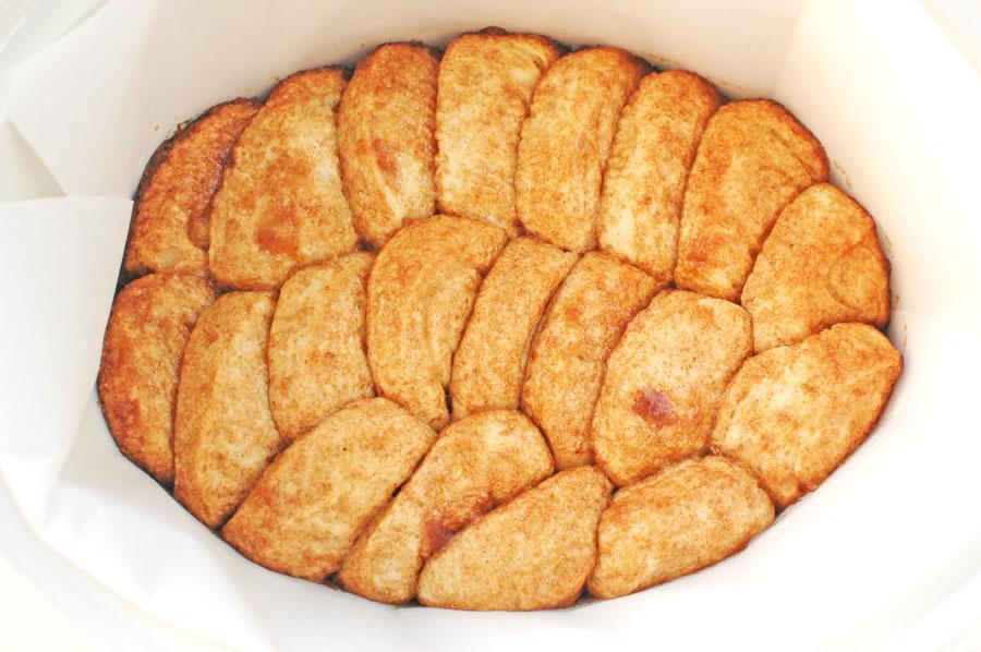 Glazed Sweet Rolls in Crock Pot Finished Cooking