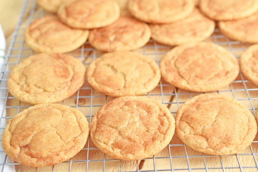 Snickerdoodle Cookies on Cooling Rack