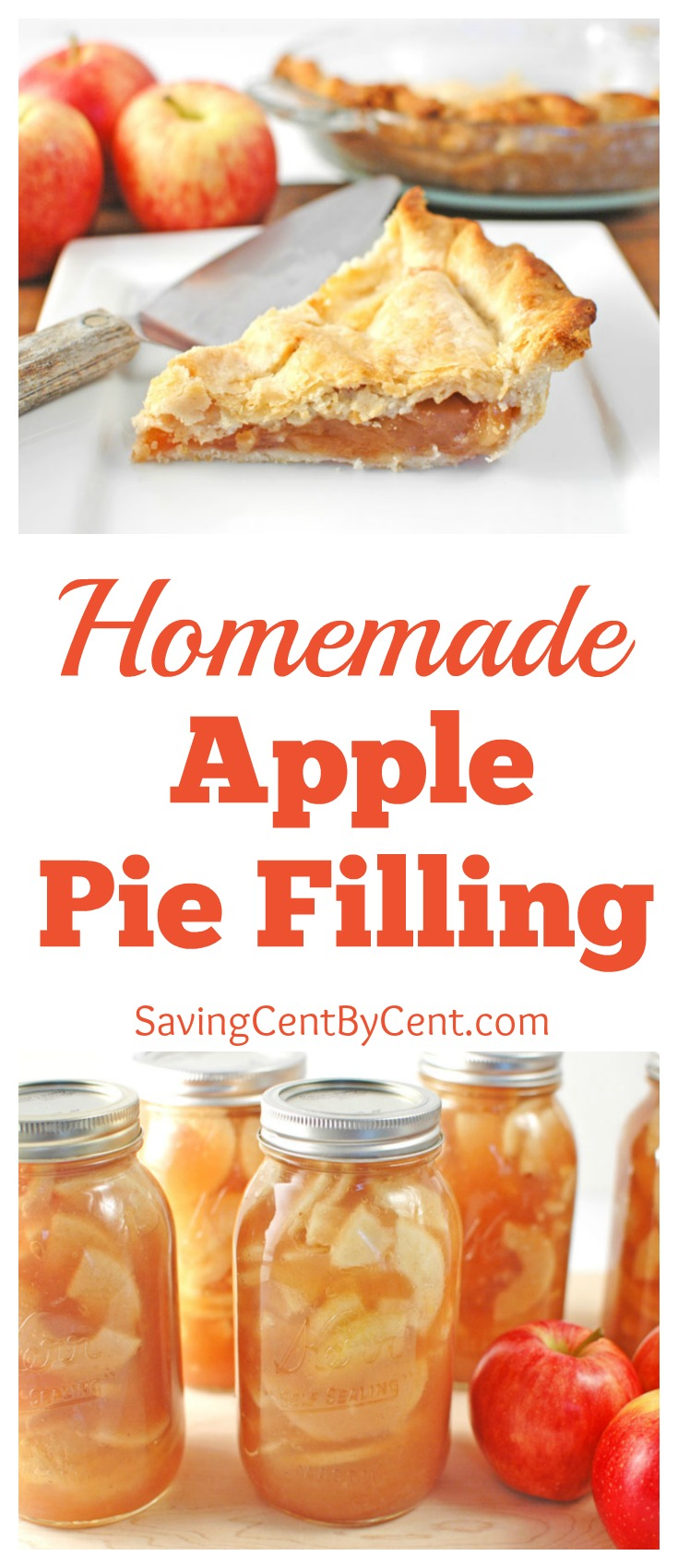 Homemade Apple Pie Filling Bottled