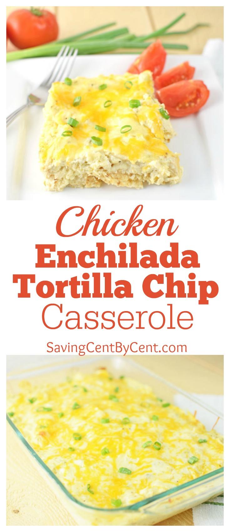 Chicken Enchilada Tortilla Chip Casserole