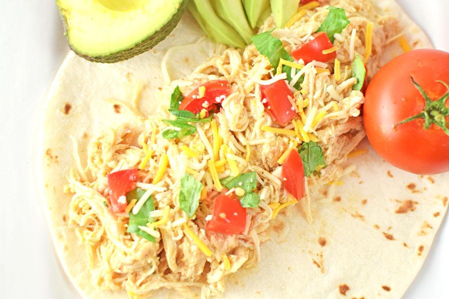 Ranch Chicken Tacos on Tortilla