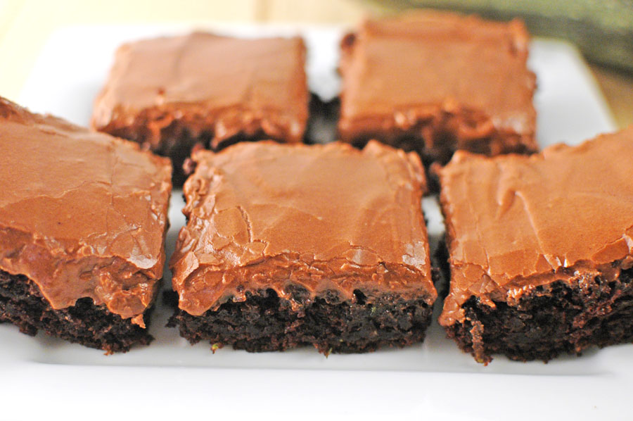 zucchini brownies with frosting