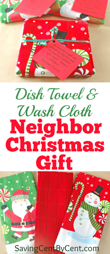 Dish Towel and Wash Cloth Neighbor Christmas Gift
