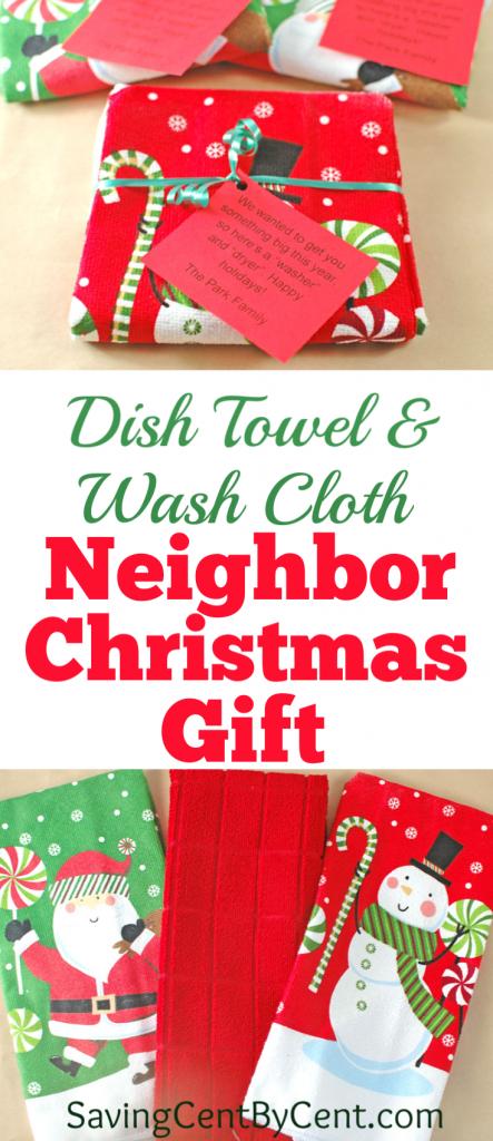 Dish Towel and Wash Cloth Neighbor Christmas Gift
