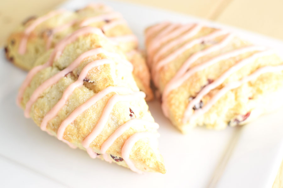 Cranberry Scones with Frosting