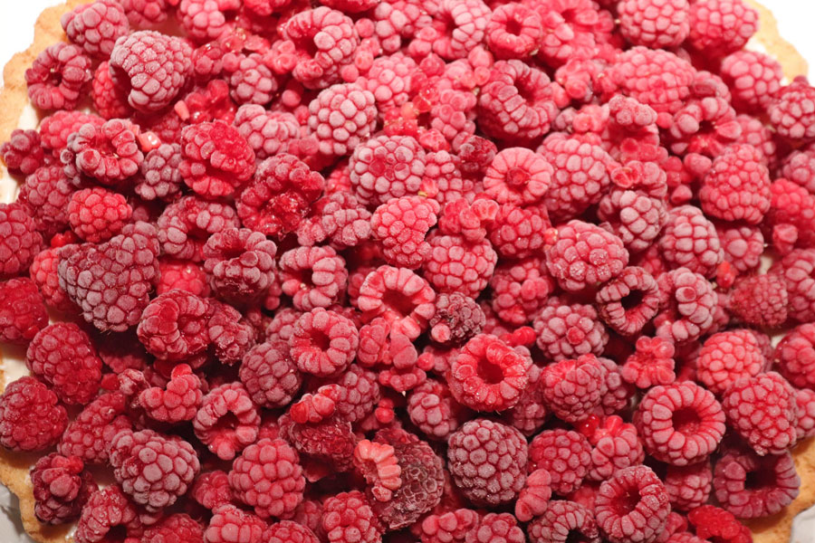 freeze raspberries