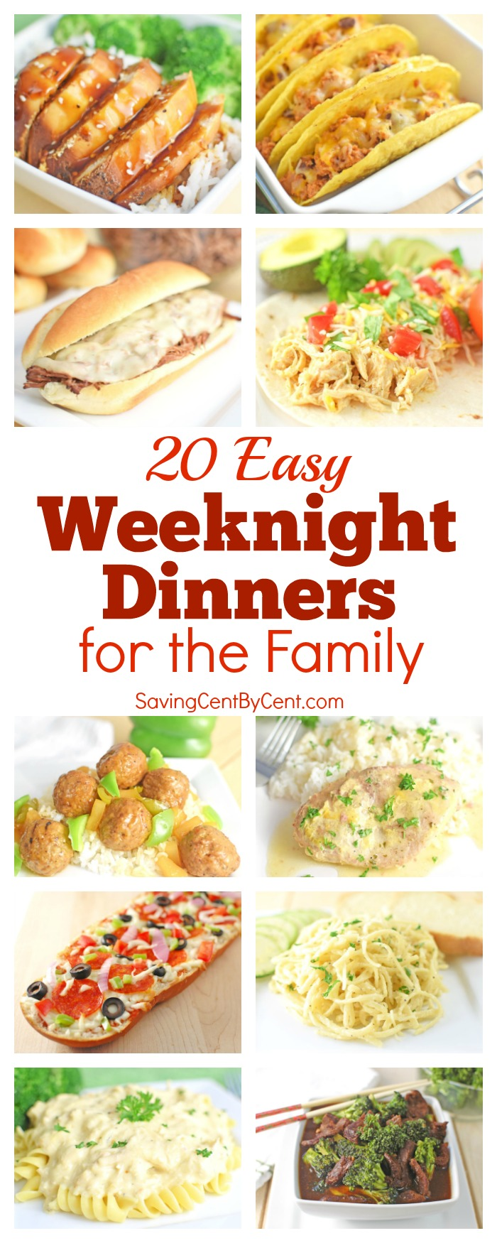 20 Easy Weeknight Dinners for the Family