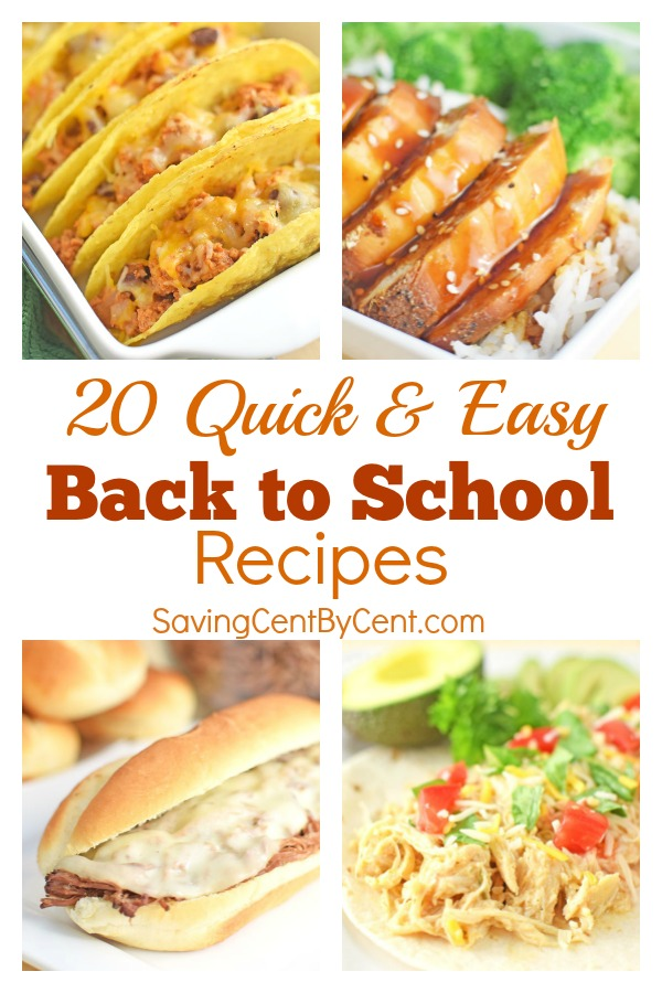 20 Quick and Easy Back to School Recipes