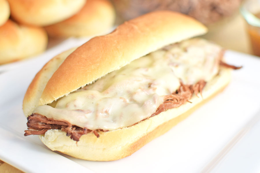 The Best Slow Cooker French Dip Sandwiches