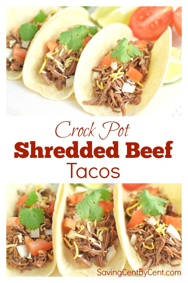Crock Pot Shredded Beef Tacos