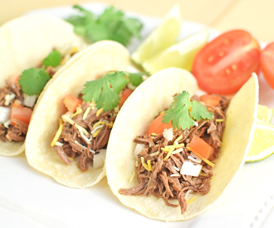 The Best Crock Pot Shredded Beef Tacos