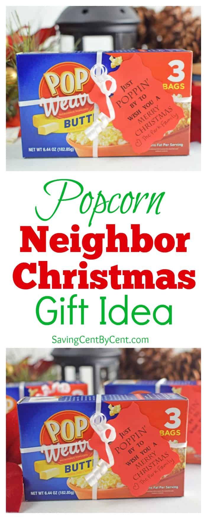 Popcorn Neighbor Christmas Gift Idea