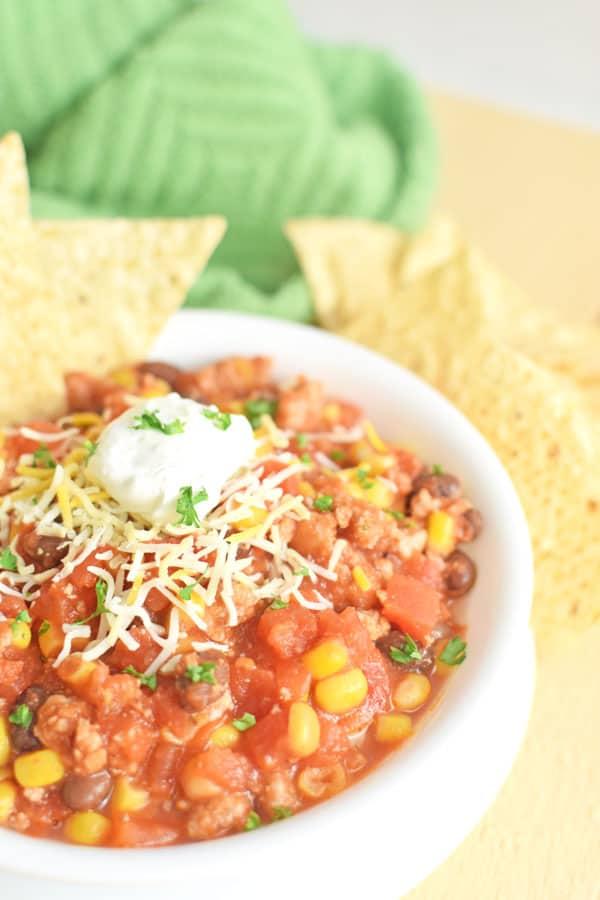 taco soup ground beef recipe