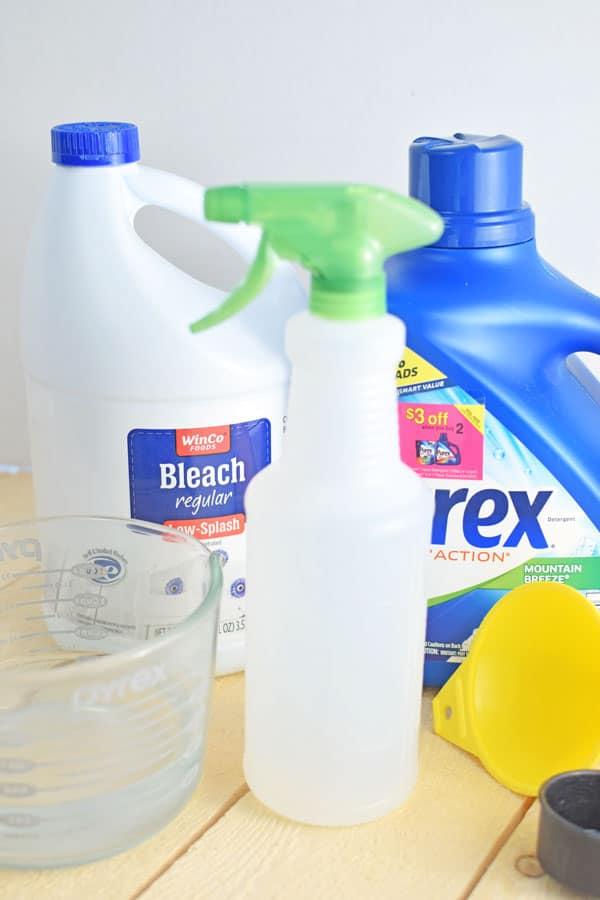 Homemade disinfectant spray bleach