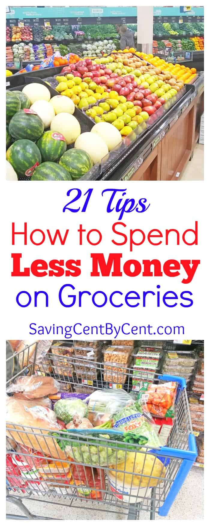 21 tips how to spend less money on groceries