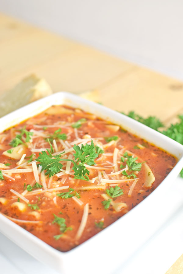 easy lasagna soup