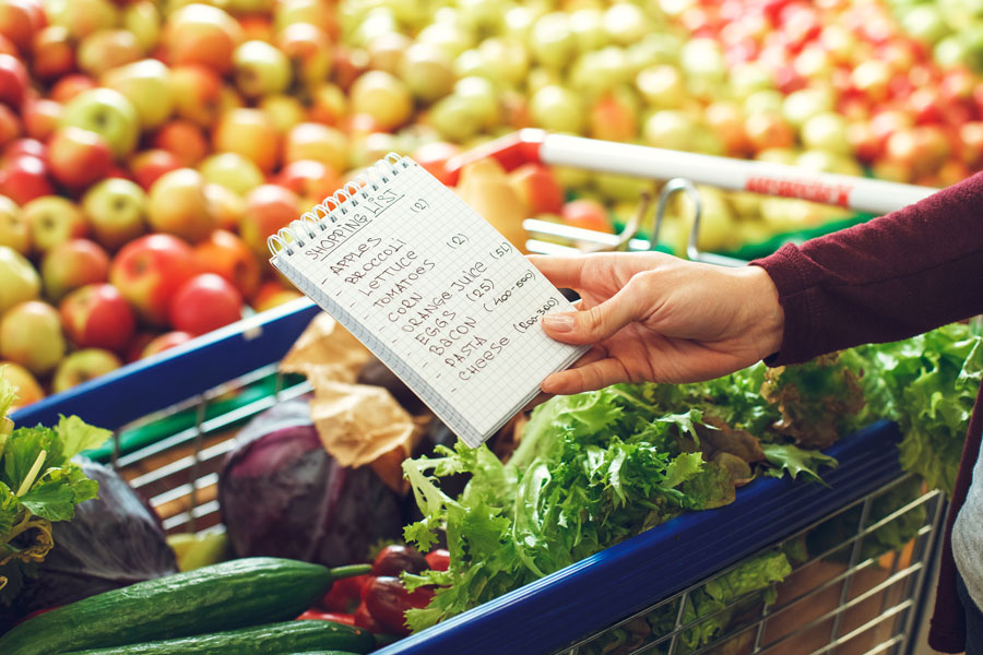 Monthly grocery budget
