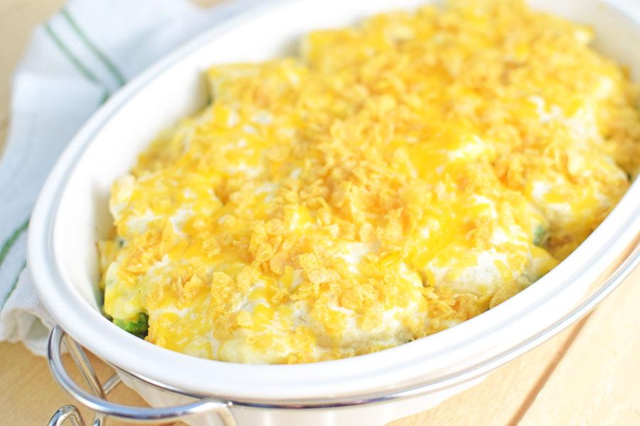 Chicken broccoli potato casserole