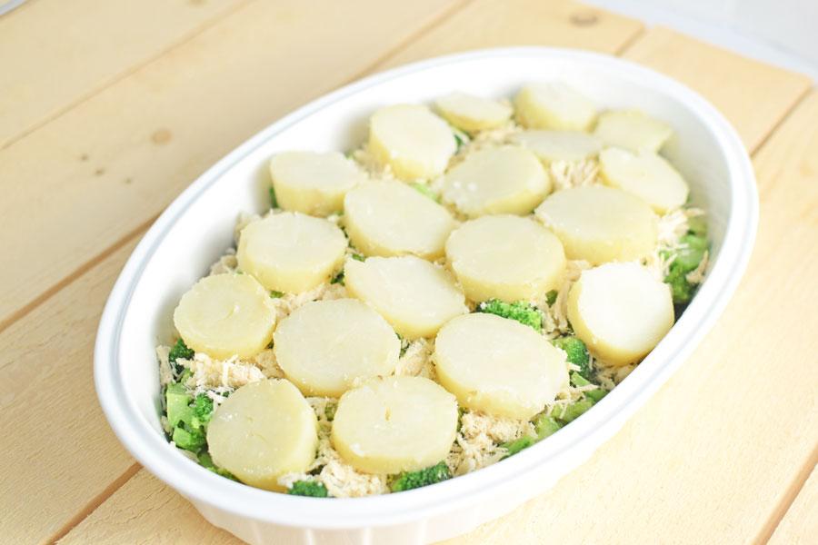Chicken broccoli potato bake